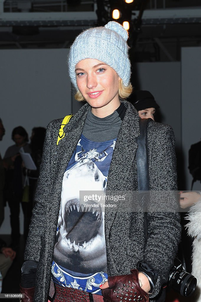 Zanita Whittington attends Karen Walker during Fall 2013 Mercedes-Benz Fashion Week at Pier 59 on February 11, 2013 in New York City.