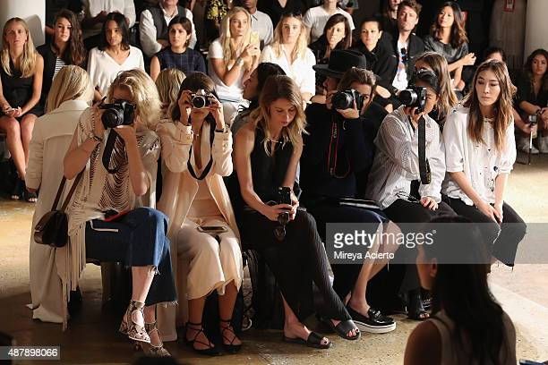 Zanita WhittingtonTalisa Sutton Natalie Cantell Carmen Hamilton Margaret Zhang and Jayne Min attend the Dion Lee fashion show during Spring 2016 MADE...