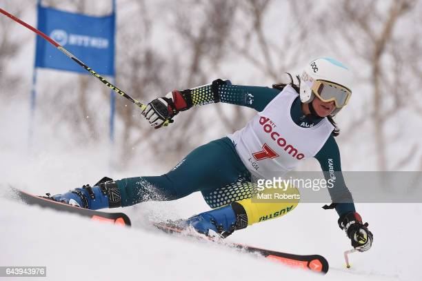 Zanna Farrell of Australia competes in women's giant slalom alpine skiing on day six of the 2017 Sapporo Asian Winter Games at Sapporo Teine on...