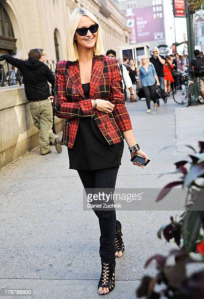 Zanna Rassi is seen outside the Rag and Bone show on September 6 2013 in New York City