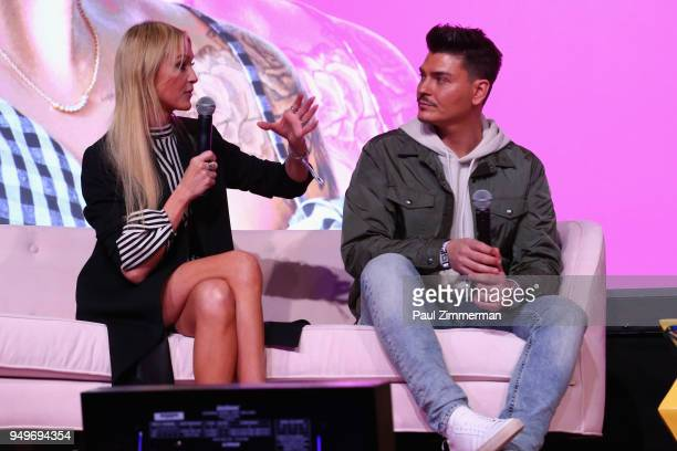 Zanna Roberts Rassi and Mario Dedivanovic speak on a panel during Beautycon Festival NYC 2018 Day 1 at Jacob Javits Center on April 21 2018 in New...