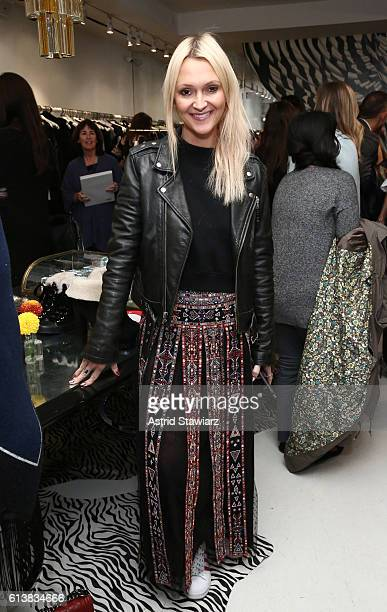 Zanna Roberts Rassi attends as Sara Blakely and Alice Olivia celebrate the launch of 'The Belly Art Project' on October 10 2016 in New York City