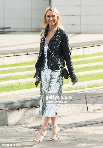 Zanna Roberts Rassi is seen arriving to the 2018 CFDA Fashion Awards at Brooklyn Museum on June 4 2018 in New York City