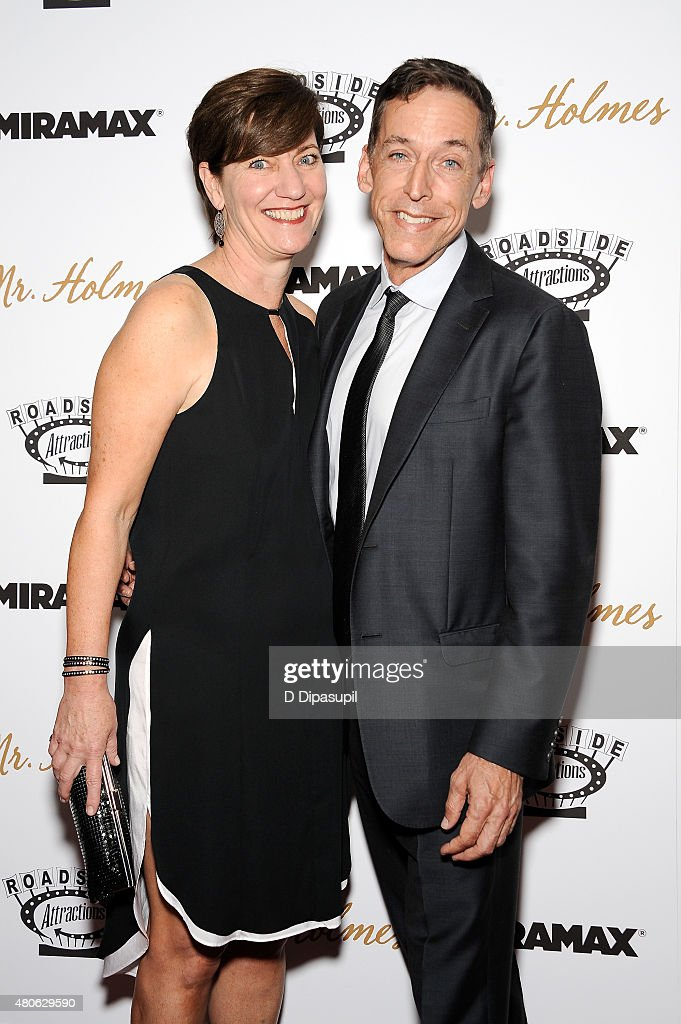 Zanne Devine (L) and Steve Schoch attend the 'Mr. Holmes' New York Premiere at the Museum of Modern Art on July 13, 2015 in New York City.