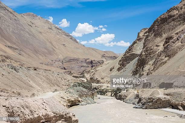 Zanskar river in Ladakh