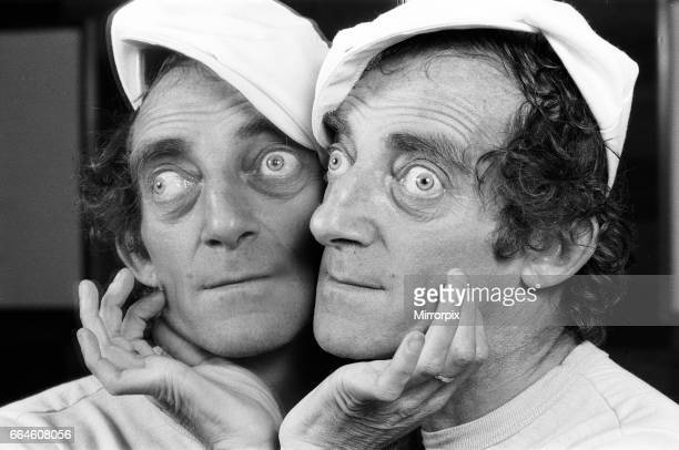Zany comedian Marty Feldman seen here posing for the Daily Mirror 29th August 1982.