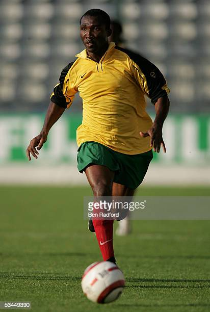 Zanzan Atteyoudeyi of Togo in action during the International friendly match between Morocco and Togo at the Stade Diochon on August 17 in Rouen...