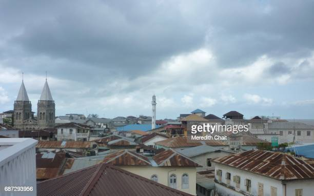 zanzibar cityscape - religious symbol stock pictures, royalty-free photos & images