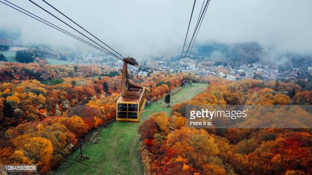 zao, yamagata, japan, autumn view - 東北地方 ストックフォトと画像