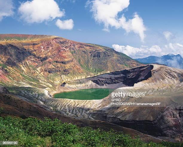 zaou crater lake,  zaou-machi,  miyagi prefecture,  japan - miyagi prefecture stock pictures, royalty-free photos & images
