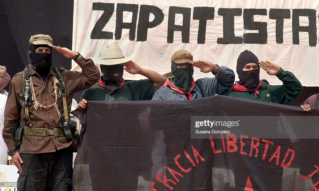 Mexican Zapatista Rebels Begin Protest March : News Photo
