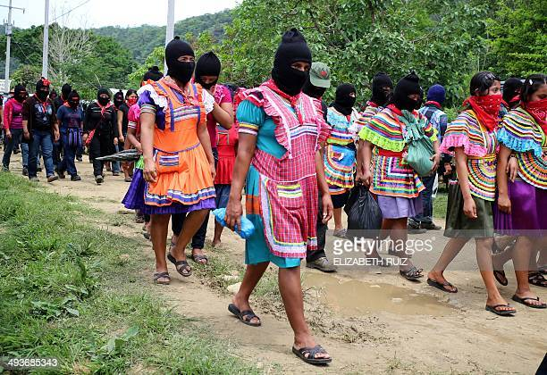 Zapatista women take part of the funeral of the teacher and Zapatista leader Jose Luis Solis Lopez on May 24 2014 in La Realidad Chiapas State Mexico...