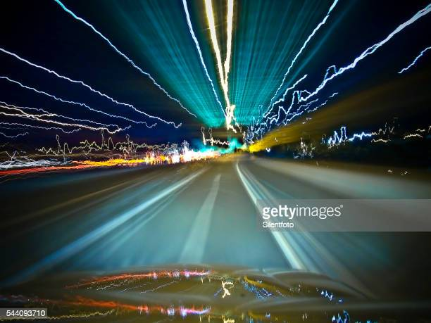 Zapping Along The Freeway at Night