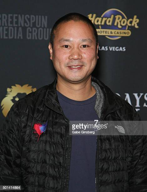 Zapposcom CEO Tony Hsieh attends the Mondays Dark 2nd anniversary at The Joint inside the Hard Rock Hotel Casino on December 14 2015 in Las Vegas...