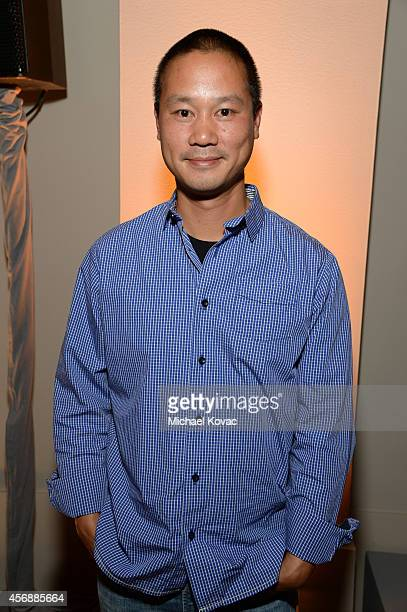 Zapposcom CEO Tony Hsieh attends the Vanity Fair New Establishment Summit Cockatil Party on October 8 2014 in San Francisco California