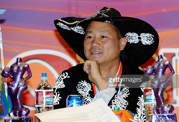 Zappos.com CEO Tony Hsieh judges contestants during the fourth annual Las Vegas Halloween Parade on October 31, 2013 in Las Vegas, Nevada.