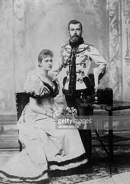 1868 1918 Zar von Rußland mit Alice von Hessen später Alexandra Feodorowna als Brautpaar 1894