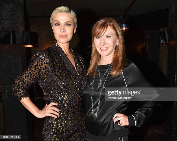 Zara Alexandrova and Nicole Miller attend the Nicole Miller Spring 2019 After Party at Acme on September 6 2018 in New York City