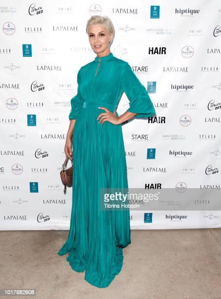 Zara Alexandrova attends LaPalme Magazine and Hiptique's Indian Summer Soiree at Trancas Country Market on August 15 2018 in Malibu California