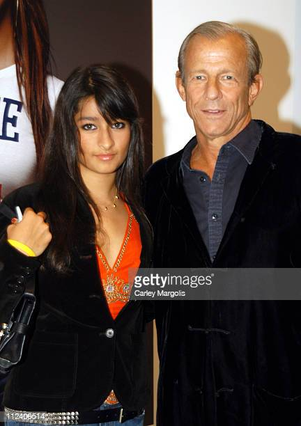 Zara Beard and father Peter Beard during World Premiere of Citizen Change Political Art Exhibit Campaign at Tony Shafrazi Gallery in New York City...