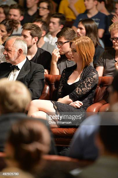 Zara DuRose during a debate at The Cambridge Union on October 15 2015 in Cambridge United Kingdom The Cambridge Union were dabting 'This House...