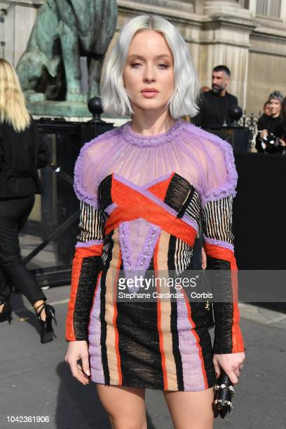 Zara Larsson attends the Balmain show as part of the Paris Fashion Week Womenswear Spring/Summer 2019 on September 28 2018 in Paris France