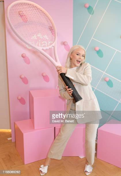 Zara Larsson attends the evian Live Young suite at The Championships, Wimbledon 2019 on July 11, 2019 in London, England.