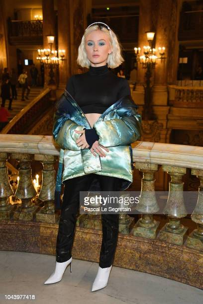 Zara Larsson attends the Stella McCartney show as part of the Paris Fashion Week Womenswear Spring/Summer 2019 on October 1, 2018 in Paris, France.