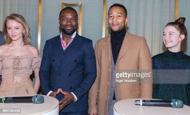 Zara Larsson David Oyelowo John Legend and Sigrid attend the press conference ahead of the Nobel Peace Prize Concert 2017 at the Norwegian Nobel...