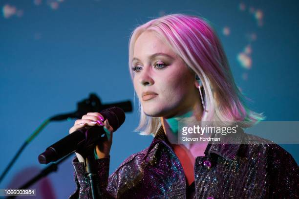 Zara Larsson performs at Sony's Lost In Music Pop-Up NYC on November 27, 2018 in New York City.