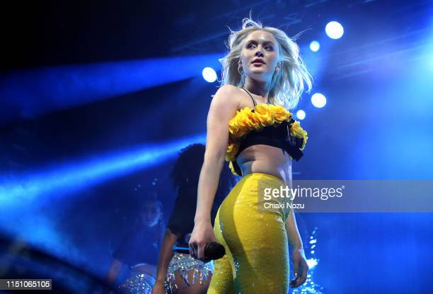 Zara Larsson performs on stage at Electric Brixton on May 22, 2019 in London, England.
