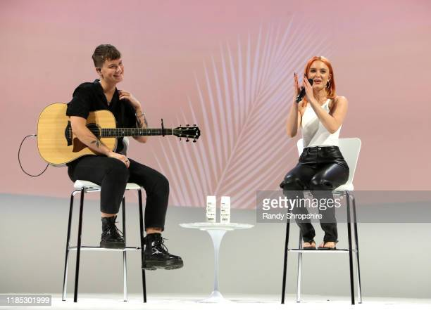 Zara Larsson performs on stage at the Teen Vogue Summit 2019 at Goya Studios on November 03, 2019 in Los Angeles, California.