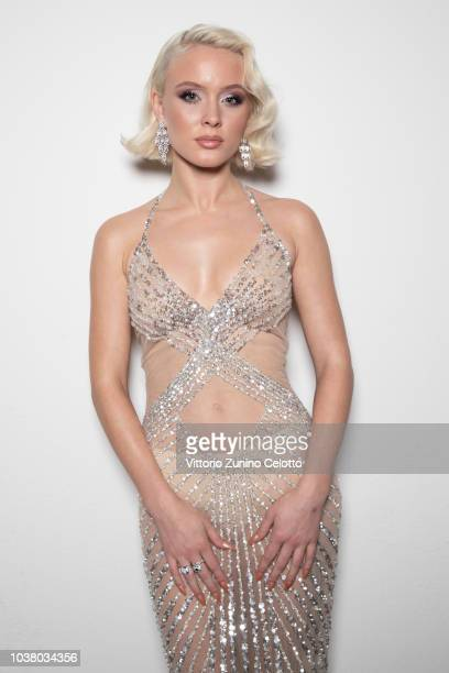 Zara Larsson poses for a portrait session ahead of amfAR Gala at La Permanente on September 22 2018 in Milan Italy