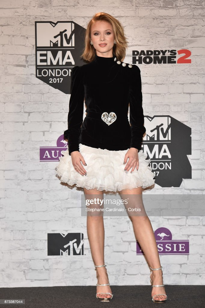 Zara Larsson poses in the Winners Room during the MTV EMAs 2017 held at The SSE Arena, Wembley on November 12, 2017 in London, England.