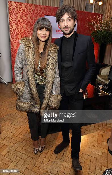 Zara Martin and Alex Zane attend the launch of new entertainment channel 'Lifetime' at One Marylebone on October 29 2013 in London England
