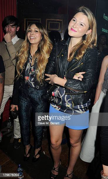 Zara Martin and Amber Atherton attend a party to celebrate the launch of 'Firetrap by Sunday Girl' the debut collection by the singer and DJ Jade...