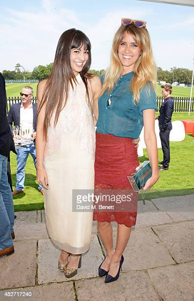 Zara Martin and Jade Williams aka Sunday Girl attend Audi International at Guards Polo Club, near Windsor, to support England as it faces Argentina...