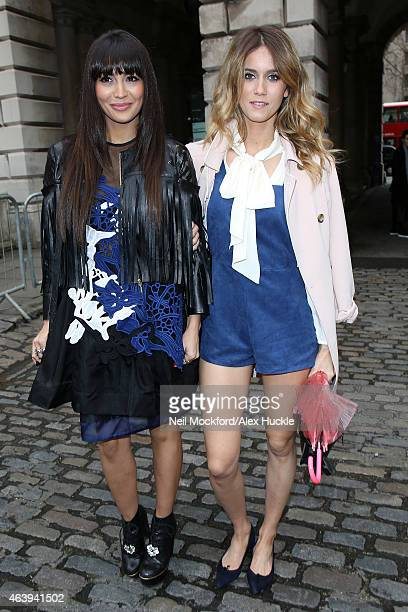 Zara Martin and Jade Williams seen arriving at Somerset House on February 20 2015 in London England