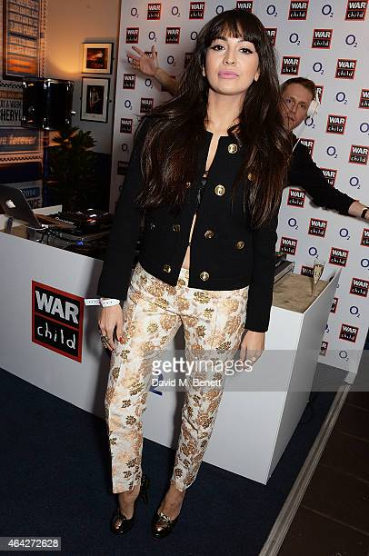 Zara Martin and Mr Hudson attend War Child O2 BRIT Awards Show at O2 Shepherd's Bush Empire on February 23 2015 in London England