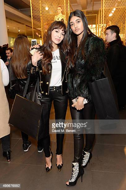 Zara Martin and Neelam Gill attend the Balmain X HM Collection Launch Party on November 4 2015 in London England