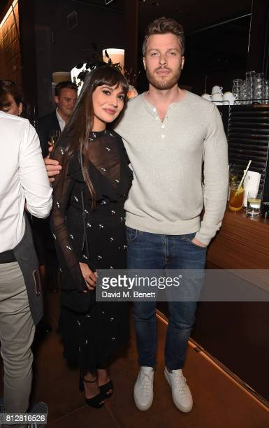 Zara Martin and Rick Edwards attend the launch of the new Cafe Nespresso Soho on July 11 2017 in London England