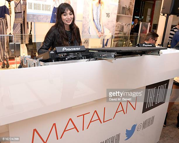 Zara Martin at the launch of The Edit Matalan's new SS16 collection on March 17 2016 in London England