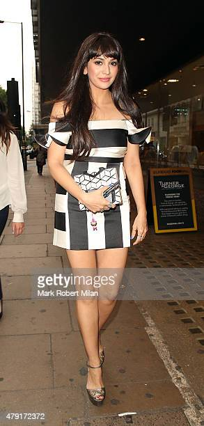 Zara Martin attending the Tiffany Co Exhibition 'Fifth And 57th' Opening Night on July 1 2015 in London England