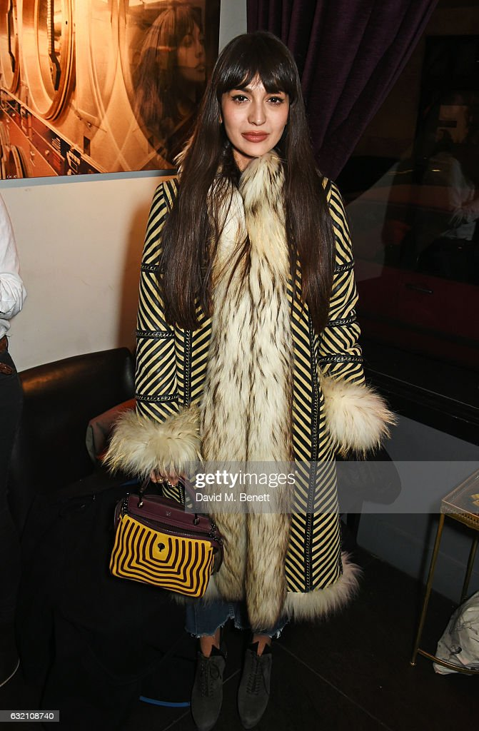 Zara Martin attends a private view of 'Emotion In Motion', an exhibition by fashion photographer Erica Bergsmeds, at The Den at 100 Wardour St on January 19, 2017 in London, England.
