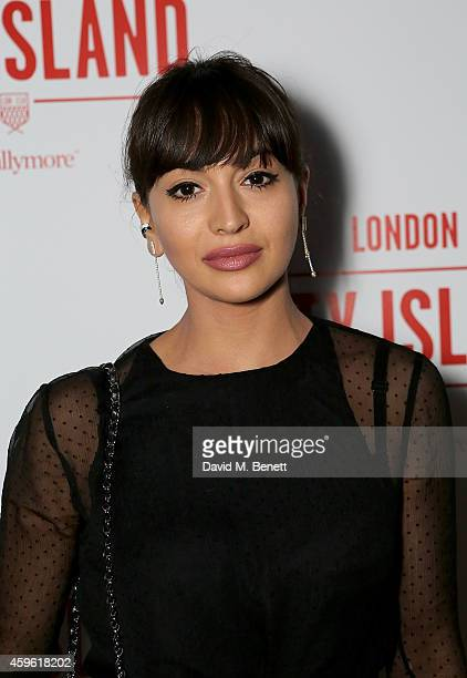 """Zara Martin attends an exclusive party to celebrate the imminent arrival of """"City Island by Ballymore"""" - a new island neighbourhood for London which..."""