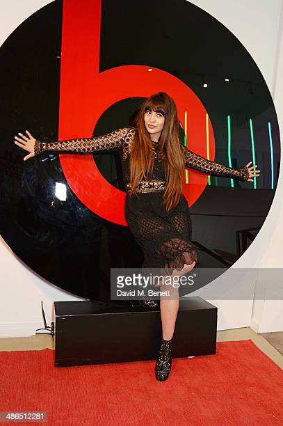 Zara Martin attends the Beats by Dr Dre Drenched in Colour nail event on April 24 2014 in London England