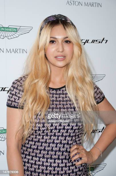 Zara Martin attends the launch of Aston Martin Vanquish at the London Film Museum on July 4 2012 in London England