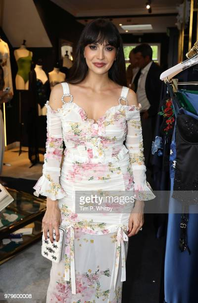 Zara Martin attends the launch of Luna Mae London's debut Bespoke Swim and Resort collection featuring a collaboration with Stephen Webster on June...