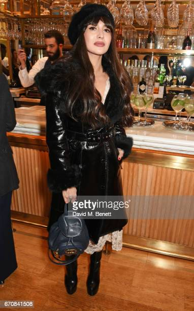 Zara Martin attends the launch of the Dior Pump 'N' Volume Mascara with Dior spokesmodel Bella Hadid at Selfridges on April 20 2017 in London England