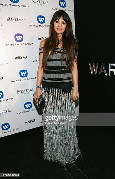 Zara Martin attends The Warner Music Group And Belvedere Brit Awards After Party In Association With Vanity Fair at The Savoy Hotel on February 19...